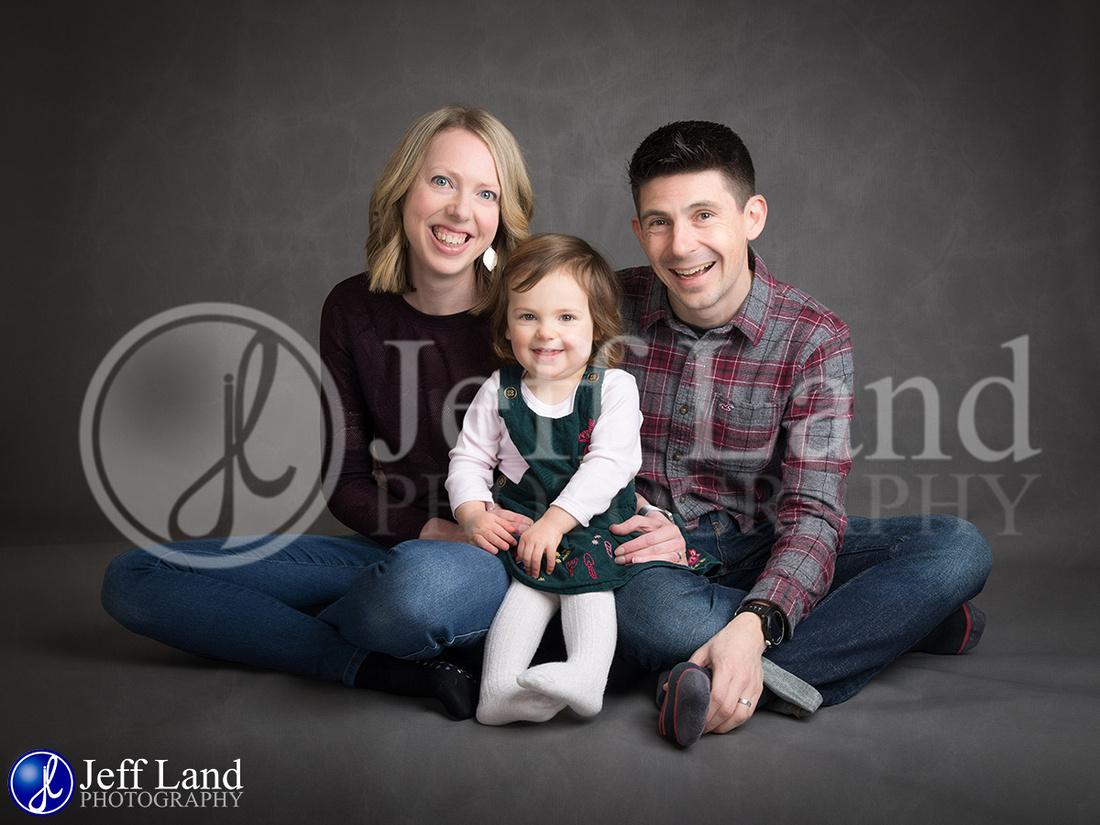 Family Studio Portrait of Steve Katie & Chloe