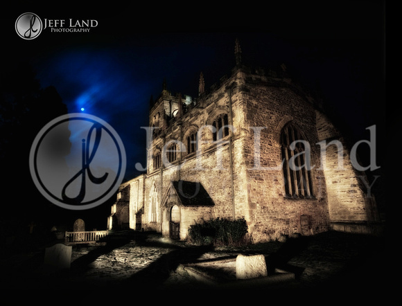Wootton Wawen Church - Light Painting