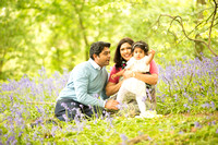 Akshada & Ganesh - Family Photo in the Bluebell Woods